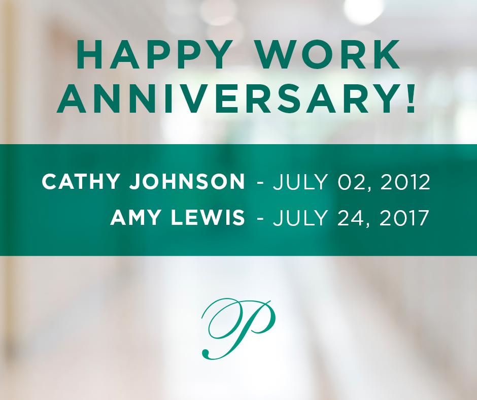 July 2018 Work Anniversaries