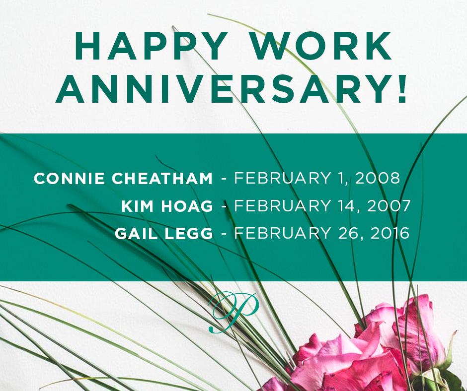 February 2019 Work Anniversaries