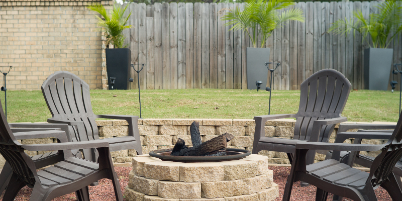 A fire pit representing increased emphasis on outdoor spaces.